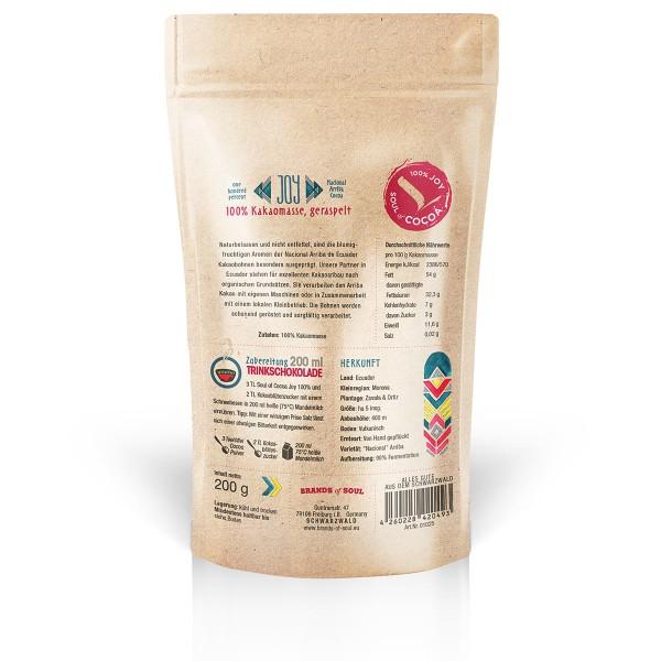 Soul of Cocoa Joy 100 % Kakao 200 g